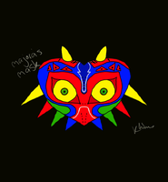 Hexing curse on the mask Majora by Nintendo-Lover-Kat