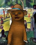Otter with hat by Karosiv