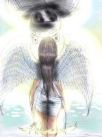 Angel Of Love Sketch Color by Kiki4rich