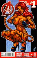 Tigra tease sketch cover by gb2k
