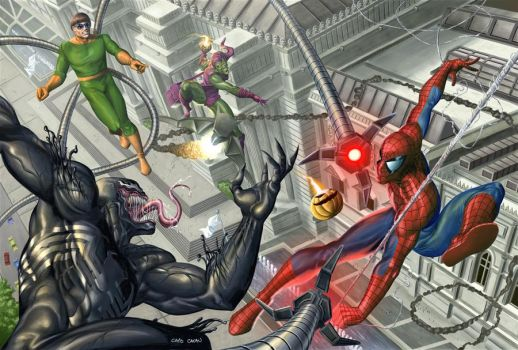 Spiderman cover by caiocacau