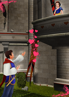Prince Charming Love Snow White by KingdomHeartsNickey