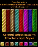 Colorful Striped Patterns by nisanboard