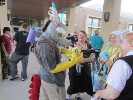 Naka KON 2013: Discord and the fluttershy plush by wolf117M