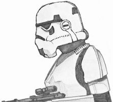 Star Wars stormtrooper sketch by Ripplin