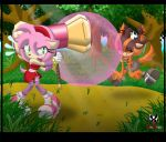 Comm: Amy and Sticks - Bubble Boom by BroDogz