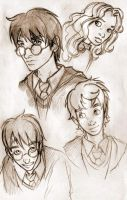 Harry Potter evening sketches. by VanOxymore