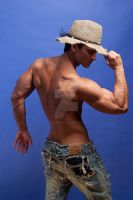 5843 Jason Aaron Baca straw hat by jasonaaronbaca