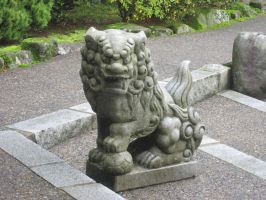 My Photo Set of Portland Japanese Garden Foo Dog by silver2004