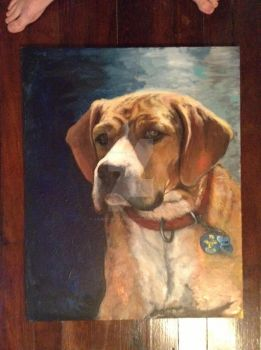 Pup painting by jamesconstantine