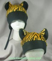 Tiger hat with black ears by The-Cute-Storm