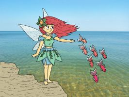Sea fairy by BeckyBumble