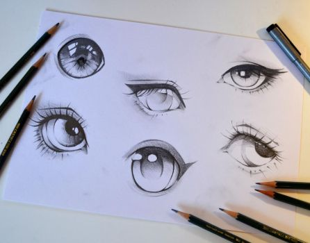 Sketchy Eyes by Lighane