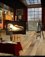 Free Stock Background:  Victorian Art Studio by ArtReferenceSource
