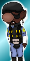 Ricochet the Hocoman by FloralFlower