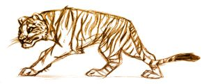 Sepia Tiger by Moose15