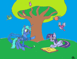 learning about birds by Darkwolf222