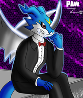 The elegant dragon: ExVeemon~ by PawFurryFoxy