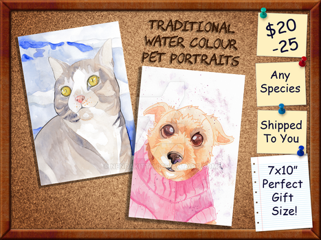 Pet Portrait Commissions by Nendakitty