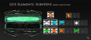 SurvHive GUI Menu and Icons by ameshin