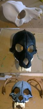 Wolf Skull Mask Process by LadyFenrirUnchained