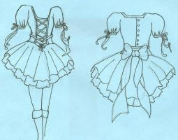 Gothic lolita sketch by Tsukino-Usagi