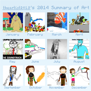 theartist2013's 2014 Summary of Art by thearist2013