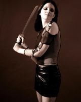 Girl with Sword Stock 4 by kristyvictoria