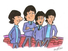 The Beatles Cartoon by EmilyHouse
