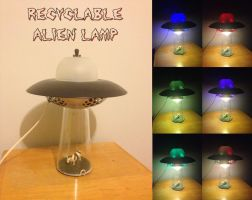 Recyclable Alien Lamp by burps20