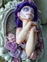 Lady D'Muertos framed sculpture by MysticReflections