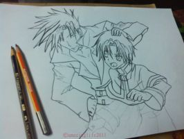 Frau and Teito (07-GHOST) by amazinglife2011