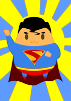 Chibi Superman by kravinoff