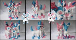 Sylveon plushies - Pokemon by Miss-Zeldette