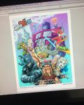 Final color poster illustration for SuperToyCon by DeJarnette