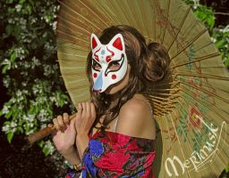 Beki Wearing Kitsune Mask by merimask