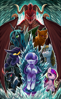 Commission 12 - Twilight's Inferno by The-Keyblade-Pony