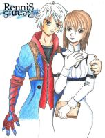 Nero and Kyrie from DMC4 by rennis117