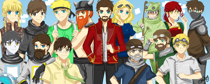 The Yogscast! - Family Portrait by MidnightSoiree