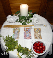 June fullmoon altar by LoveLiveLilith