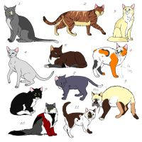 Adoptable Cats Page by Wolfchick36