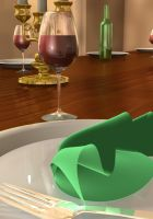 Dining Table 3D - 2 by Natnie