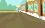 Background Vector - Ponyville Train Station SVG by BG93-Sketches