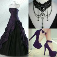 Black and Purple Gown Outfit by Angela247