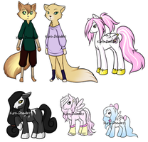 Ponies And Kitties by Kuro-Doodles