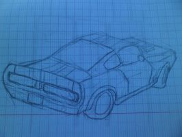 croquis Ford Mustang Shelby GT 500 1967 by Linebeck18