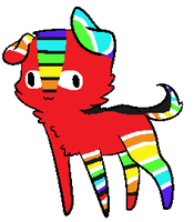 Rainbow Puppy 5 Points by love-the-adopts