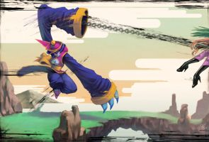 Failed Darkstalkers tribute by kasai