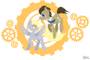 Gears of a Time Lord and Wings of an Angel by kellyn28