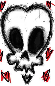 Scribble Skull..#3? by LillithLaviathan